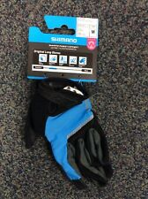 Shimano Women's Original Long cycling-riding-bike Gloves, Blue, med