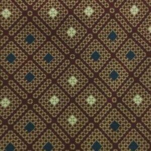 Burgundy Brown Plaid Silk YSL Tie