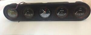 JAGUAR XJ6 XJ12 DAIMLER DASH INSTRUMENT CLUSTER SMITHS GAUGES & KIENZLE CLOCK
