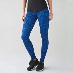 Lululemon Wunder Under Pant III Leggings Samba Snake Kayak Blue Hero Blue Size 2