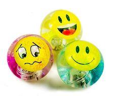 3 Divertente Faccia accendere Rimbalzante Palline di acqua 65 mm cambia colore glitter Lampeggiante giocattolo