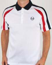 Sergio Tacchini Mcenroe Blow Polo Shirt - White, Navy & Red - BNWT