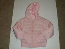 NWOT NEW Gymboree Girls Size M 7-8 7 8 Gingerbread Girl Pink Quilted Hearts Coat