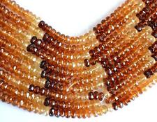 "16"" STRAND HESSONITE GARNET BEADS FACETED RONDELLE 4.5 - 6 MM GMESTONE#3475"