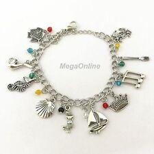 NEW Disney The Little Mermaid Ariel Charm Bracelet Bangle Charms Wristband