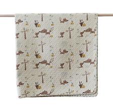 Squirrel Baby Nursery Childrens Throw Rug Cotton Quilted Scandi Play Mat