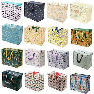 Extra Large Jumbo Zip Up Laundry Shopping Bags Children Toy Storage Reusable Bag