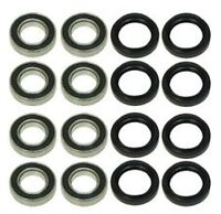 Yamaha 700 Rhino All Front and Rear Wheel Bearings Seals 2008 - 2013