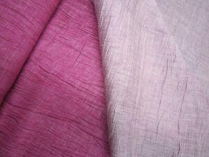 SONDERPREIS! HILCO Crash-Leinen OEKO-TEX Pink-Rosé ab 50 cm Dubbleface