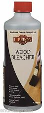 Liberon Wood Bleach - Removes Dark Stains & Marks From Wood Furniture - 125ml