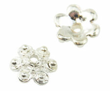 Silver Plated Any Purpose Flower Jewellery Making Beads