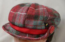 Hatman of Ireland Newsboy Cap Red Gray Plaid Hat Cotton One Size Gerry Moran