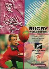 New Zealand v Wales 1995 RUGBY WORLD CUP PROGRAMME