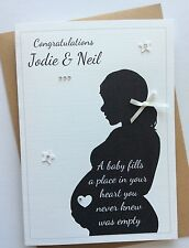 Handmade Personalised Baby Shower Mum to Be Pregnancy Congratulations Card