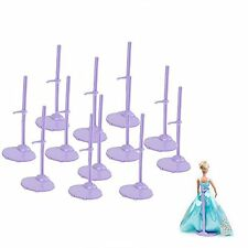 US NEW-12pcs Clothing Stand Model Support Frame Prop up For Barbie Dolls Purple