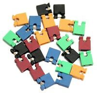 25x 2.54mm Micro Jumper Mixed Colours Shorting Link Shunt With Open Test Point