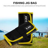 Fishing Spoon Lure Tackle Bag Wallet Spinner Bait Storage Case Pocket Waterproof