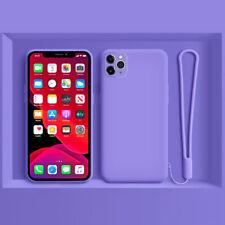 Para iPhone 11 Pro Max XS XR X 8 7 Plus Funda Silicona Líquida Para Cordón Mano