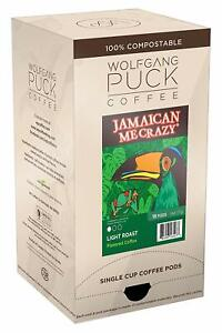 Wolfgang Puck Coffee, Jamaican Me Crazy Gram Coffee, 9.5 Gram Pods, 18 Count