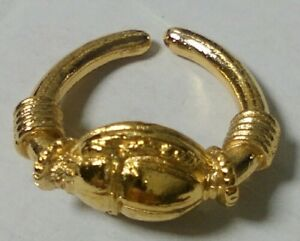 Egyptian Gold Plated Scarab Ring