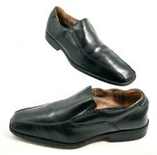 Black Leather Bicycle Toe Oxford Comfort Loafers Mens US Shoe Size 9.5 M