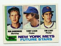 1982 Topps RON GARDENHIRE TERRY LEACH TIM LEARY Rookie Card 623 RC New York Mets