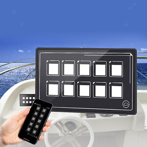10P Touch Screen Control Switch Panel w/Backlight APP Control Universal