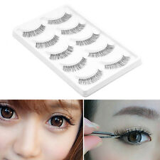 5Pairs New Natural Sparse Cross Eye Lashes Extension Makeup Long False Eyelashes