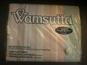 Wamsutta Awning Stripe 180 Thread Count Twin Flat Sheet New