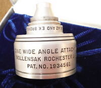 Wollensak Lens 808 Cine Wide Angle Movie Camera Attachment f/2.7 f/1.9 Brownie