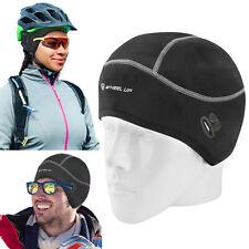 Men Women Winter Sport Beanie Hat Fleece Warm Helmet Liner Cap with Glasses Hole