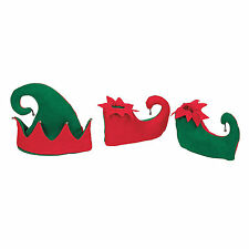 CHILDREN'S ELF HAT AND SHOES CHRISTMAS COSTUME NEW DRESS UP FUN XMAS