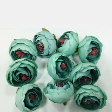 10pcs 4cm Silk Rose Bud Heads Artificial Fake Flower Wedding Party Decorations G Dark Green