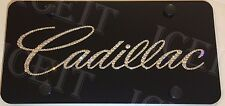 "Cadillac Black Front license plate frame 1/2"" Thick made With Swarovski Crystal"