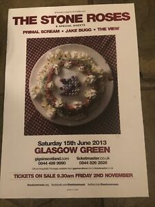 The Stone Roses /primal Scream/ View - Concert/Gig poster, Glasgow - 2013