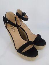 No Doubt Black High Wedge Sandals UK 6 EU 39 LN16 60