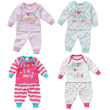 031d2ad8aac6a Lullaby Baby Girls I Love My Mummy or Daddy Long Sleeve Cotton Pyjamas 0 -9mths