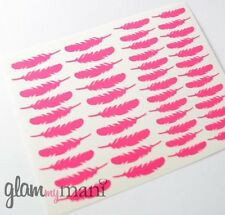 Feather Nail Vinyls Nail Stickers Designs DIY Nail Art 46 Count