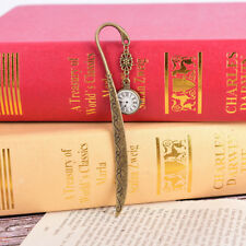 retro vintage metal alloy bronze bookmark document book mark label for gift_ec