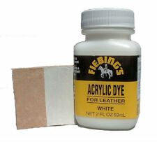 Fiebing's Acrylic Leather Dye, White, 2 oz. / 59 mL