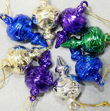 Christmas Ornament Unbreakable FEATHER TREE Tops Drops Lot of 12