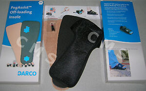 DARCO PegAssist PTQ Off-Loading Insole System Square Toe For MedSurg Peg Assist
