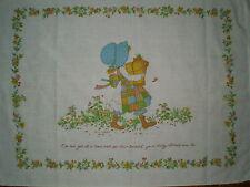 Vintage HOLLY HOBBIE Fabric Panel (69cm x 52cm)