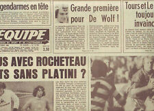 journal  l'equipe 20/10/80 RUGBY FRANCE JAPON CYCLISME LOMBARDIE DE WOLF FOOT