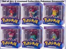 POKEMON Christmas Ornaments FULL SET All 6 Poke Pikachu Charmander Retired NIB