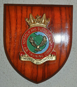 Air Training Corps Norfolk & Suffolk Wing mess plaque shield ATC RAF cadets