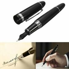 Fountain Pen Inkpen Jinhao 159 Black Bright with Silver Broad Nib Hot Stationery