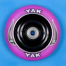 YAK Scooter Wheel 100mm Purple/Black w/Bearings - Razor Lucky District Phoenix
