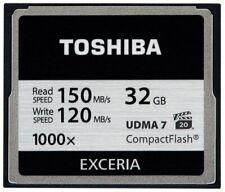 Toshiba CompactFlash CF 32GB Professionelle 1000x UDMA 7 CF EXCERIA 150 MB/s 8