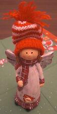 Weihnachten Engel Wollmütze Baum 15 x 7 cm Keramik Weihnachtsdeko Deko Neu